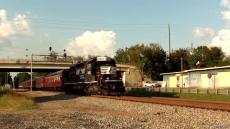 NS 956 OCS being pulled backwards with an SD40-2