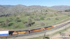 Drone Foaming the Loop Tehachapi Pass